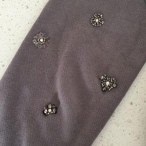 J. Crew Tops - J crew grey beaded embellished sweatshirt s